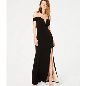 black long simple prom dress